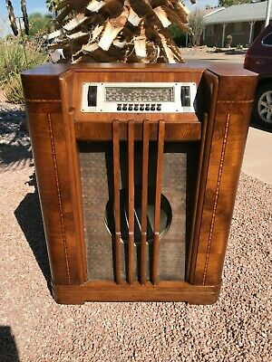 RADIO SALE! Philco 40-195 Antique Floor Console Radio Vintage WORKS!!!