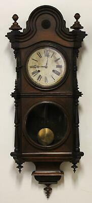 19thC Antique E.N. WELCH American Walnut Regulator Wall Clock, NR