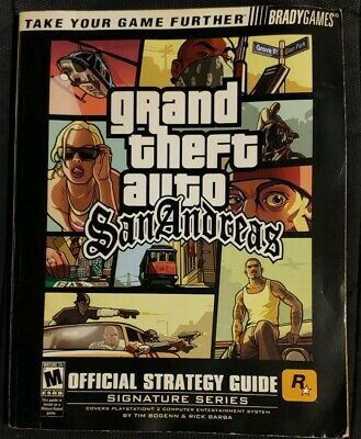 Grand Theft Auto San Andreas Official Strategy Guide with Fold Out MAP for PS2