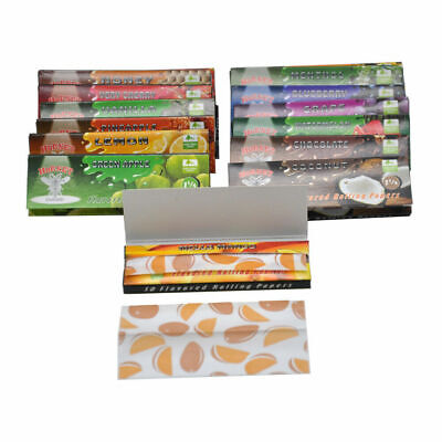 5 Fruit Flavored 250 Leaves Lots Smoking Cigarette Hemp Tobacco Rolling Papers