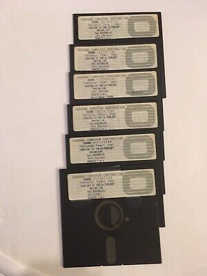 """Osborne Executive Computer Software 1982 6 5 1/4"""" Floppy Disk """"Personal Pearl"""""""