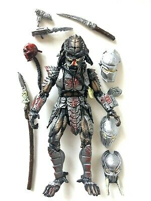 """Predator 10"""" Action Figure Alien Bootleg Mexican Toy w 8 Weapons Accessories New"""