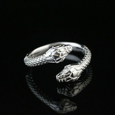 925 Solid Sterling Silver Plated Women/Men NEW Fashion Ring Gift SIZE OPEN HR03