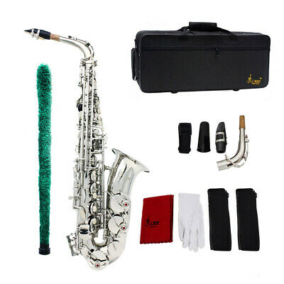 Saxophone Professional Sax Eb Be Alto E Flat Brass with Case+Care Kit Durable