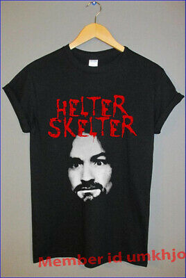 Limited Edition Charles Manson Shirt Serial Helter Skelter Unisex Black S-3XL