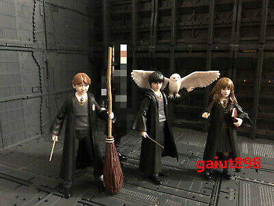 S.H. Figuarts SHF Harry Potter, Hermione Granger, Ron Weasley Figure With Box