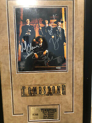 Autographs of 1993 Tombstone Cast in Framed Poster