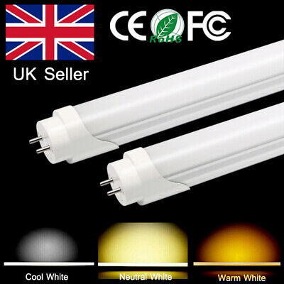 T8 Fluorescent Light Bulbs Tube 2FT 3FT 10W 15W Replacement Milky Cover White