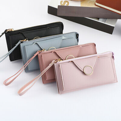 Fashion Womens Bifold Wallet Leather Clutch Card Holder Ladys Purse Long Handbag