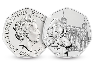 2019 UK Paddington at the Tower of London 50p Coin