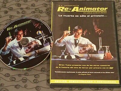 Dvd Pelicula Re-Animator Stuart Gordon Usado Buen Estado.