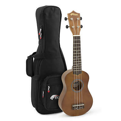 Tiger UKE12 Natural Soprano Ukulele with Padded Gig Bag – School Starter Pack