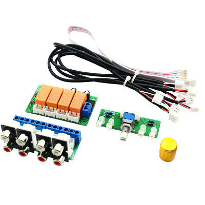 Relay 4-Way Audio Input Signal Selector Switching RCA Audio Input Selection H4U9