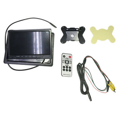 7 Inch Tft Lcd Monitor Hd Color Car Rear View Monitor 2 Channel Video Input L5K8