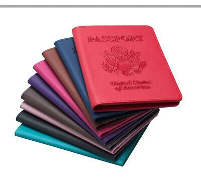 Passport Cover Protector Leather RFID Blocking ID Case Card Holder Travel Wallet