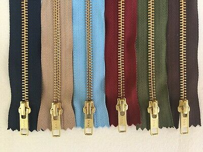 YKK Brass Jean Zips Semi- Auto Lock Slider for Jeans, Trousers and Cords