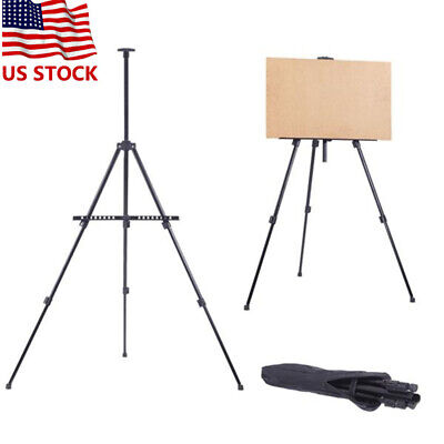 Artist Folding Painting Easel Adjustable Tripod Display Stand W/ Floor Carry Bag