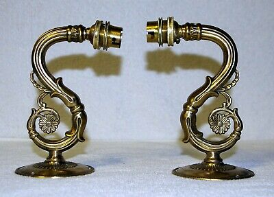 Quality Ornate Heavy Brass Wall Sconce Brackets Fittings Electric Oil Lamps