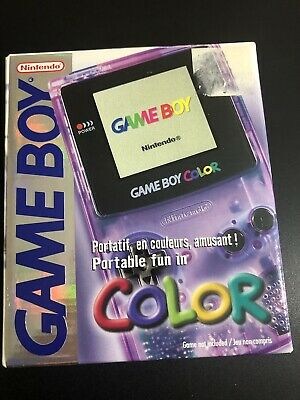 Nintendo Game Boy Color Handheld Console - Atomic Purple IN BOX