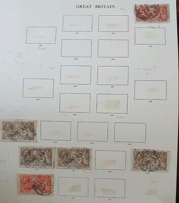 Gb Stamps King George V 5X Seahorses Used Joblot (47)