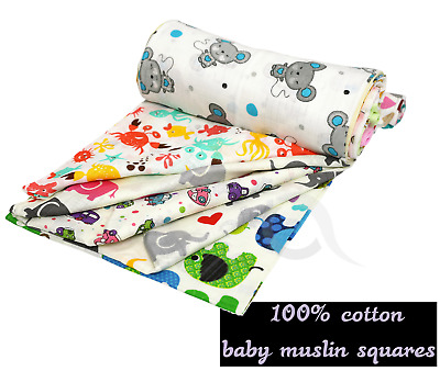 6 x White 100/% Cotton Muslin Squares Re-usable 71x71 cm MADE IN EU