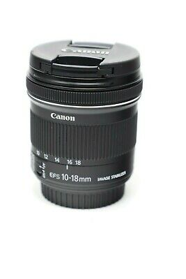 Canon EF-S 10-18mm F/4.5-5.6 IS STM Lens-Excellent