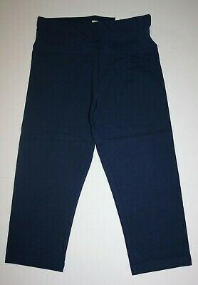 NEW Justice Navy Blue Athletic Crop Length Leggings NWT 7 8 10 12 14 16 20 Girls