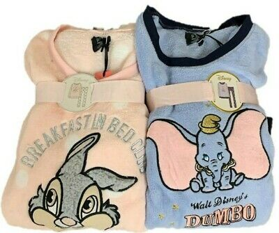 Disney Dumbo Thumper Pyjama Set Women's Ladies Fleece Pj's Cosy Soft Primark