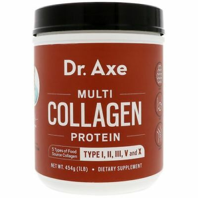 Dr. Axe Multi Collagen Protein Powder High-quality Blend of Grass Fed Beef 1 LB
