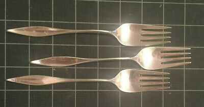 THREE - Lark by Reed & Barton Sterling Silver Dinner Forks -  7 1/8 inch