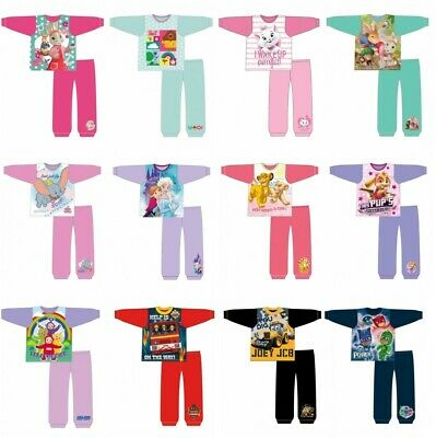 Girls Boys Kids Childrens Disney Toddler Character Pyjamas Pajamas Pjs 1-5 Yrs