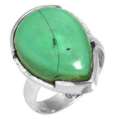Turquoise Tibetan Solid 925 Sterling Silver Collectible Ring Size 5.5 cQ09815