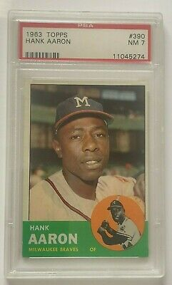 1963 Topps Hank Aaron #390 PSA 7 could be 7.5 if regraded very nice!