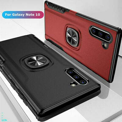 For Samsung Galaxy Note10 / Note 10 Plus Slim Hybrid Ring Stand Phone Case Cover