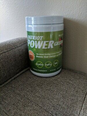 Patriot Power Greens Berry Flavor 11.43 oz - New / Sealed! 30 - 60 Servings