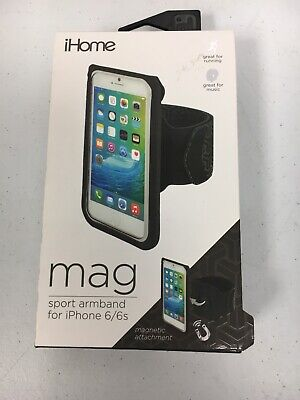 iHome MAG Sport Armband for iPhone 6/6s Magnetic Attachment Black