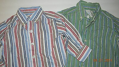 CHILDRENS PLACE boys Lot of 2 Stripe Button Up SHIRTS* 6 9 12 months