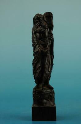 Chinese eaglewood hand-carved One of the eight immortals immortal Statue NR  b01