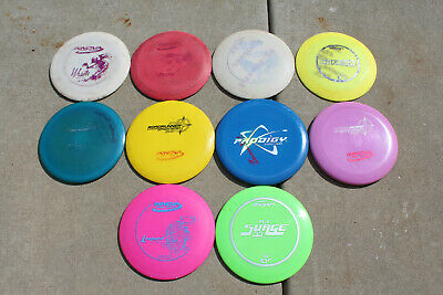 Lot of 10 Disc Frisbee Golf Discs - Used - Innova, Discraft - Drivers Putters