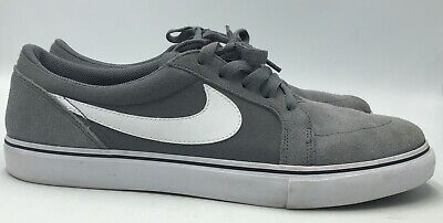 Nike Sb Satire Ll Mens Gray Suede Canvas Skate Sneaker Size 12 Euc