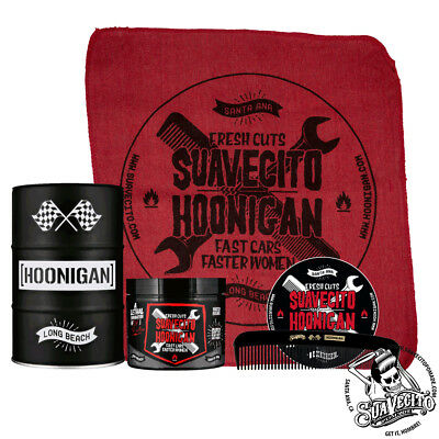 Suavecito X Hoonigan Firme (Strong) Hold Oil Barrel Set