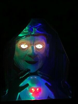 Halloween Fortune Teller Animatronic.Gemmy Large Fortune Teller Witch Animated Motionette Electric