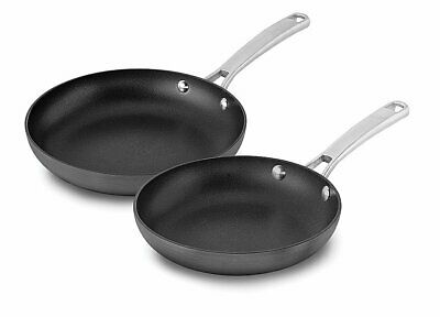 Calphalon 2 Piece Classic Nonstick Fry Pan Set, Grey