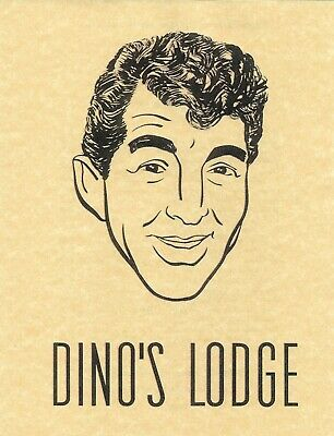 Dean Martin's Dino's Lodge Laminated Paper Menu From Long Ago