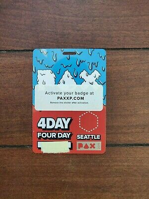 PAX West 2019 4-Day (Friday, Saturday, Sunday, Monday) Badge