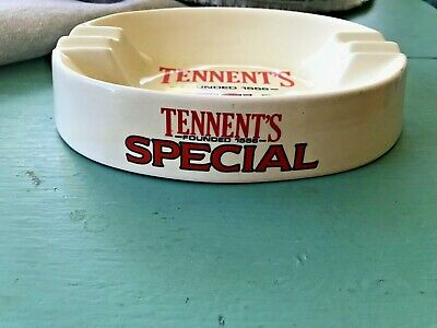 VTG Tennent's Special Beer Ceramic Cigar Ashtray Made in Staffordshire England