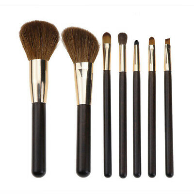 7Pcs Makeup Brush Powder Foundation Eyeshadow Blush Brushes Brown Animal Sets