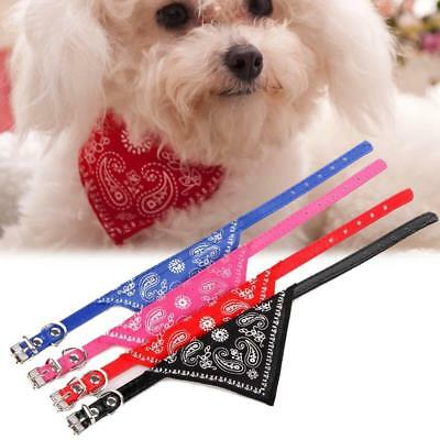 Adjustable Pet Dog Cat Puppy Neck Collar Harness with Scarf Bandana Collars TH
