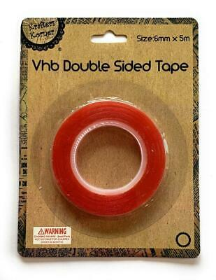 Double Sided Tape Strong Adhesive Removable Clear Mounting Sticky Tape for Craft