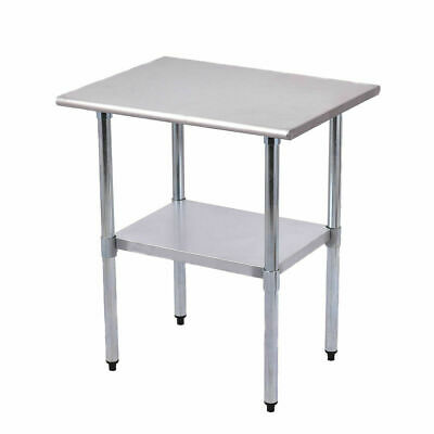 """24"""" x 30"""" Stainless Steel Work Prep Table Commercial Kitchen Restaurant New"""